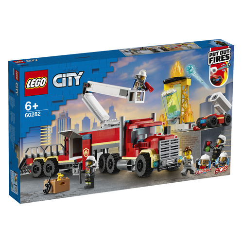 Конструктор Lego City Fire Команда пожарных, 60282 конструктор lego city 60214 пожар в бургер кафе