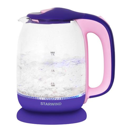 Чайник электрический StarWind SKG1513, 2200Вт, фиолетовый и розовый