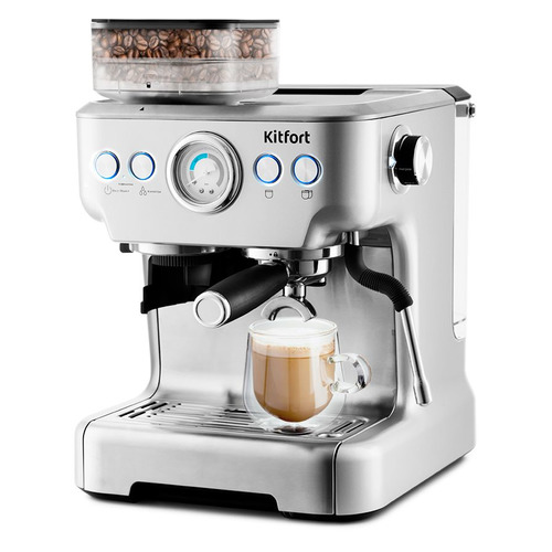 Кофеварка KITFORT KT-755, эспрессо, серебристый
