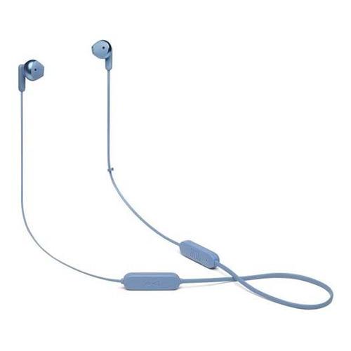 Гарнитура JBL T215BTC, Bluetooth, вкладыши, синий [jblt215btblu]