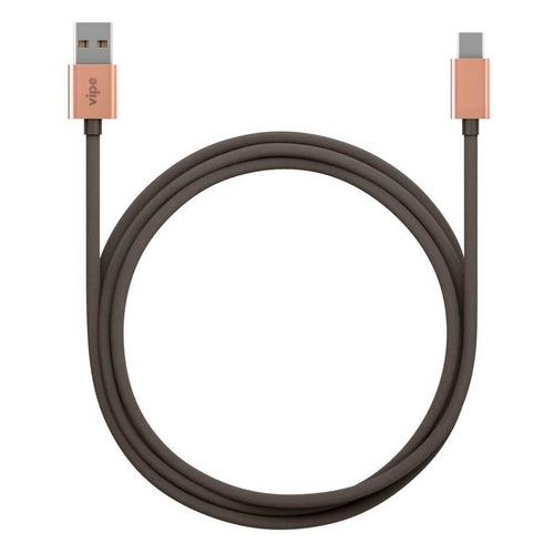 Кабель Vipe, USB Type-C (m) - USB (m), 1м, серый [vptypeccblcopgrey]