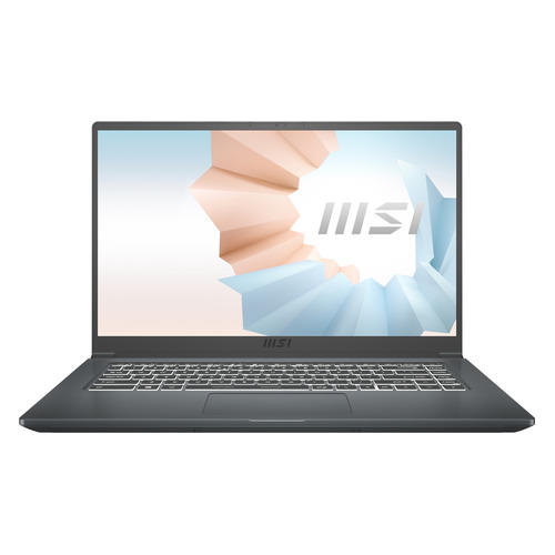 Фото - Ноутбук MSI Modern 15 A11SBU-476RU, 15.6, IPS, Intel Core i7 1165G7 2.8ГГц, 8ГБ, 512ГБ SSD, NVIDIA GeForce MX450 - 2048 Мб, Windows 10, 9S7-155266-476, серый ноутбук asus vivobook x515jp bq029t 15 6 ips intel core i5 1035g1 1 0ггц 8гб 512гб ssd nvidia geforce mx330 2048 мб windows 10 90nb0ss1 m02450 серый