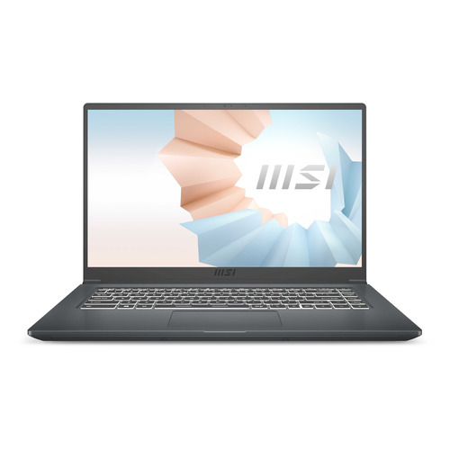 Фото - Ноутбук MSI Modern 15 A11SBU-479XRU, 15.6, IPS, Intel Core i5 1135G7 2.4ГГц, 8ГБ, 512ГБ SSD, NVIDIA GeForce MX450 - 2048 Мб, Free DOS, 9S7-155266-479, серый ноутбук asus vivobook x515jp bq029t 15 6 ips intel core i5 1035g1 1 0ггц 8гб 512гб ssd nvidia geforce mx330 2048 мб windows 10 90nb0ss1 m02450 серый