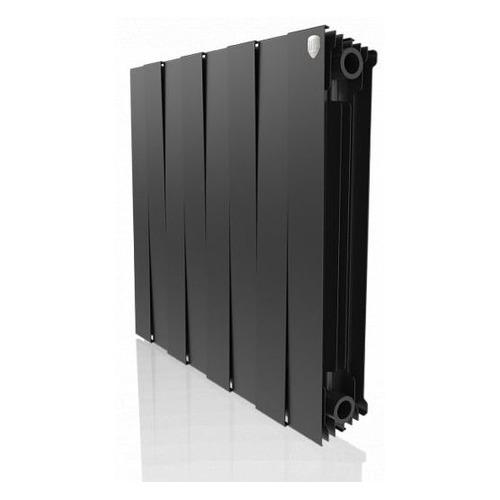 Радиатор биметаллический ROYAL THERMO PianoForte 500 500мм х 8 секций, боковое [нс-1176334] радиатор отопления royal thermo биметаллический biliner 500 new noir sable 8 секций