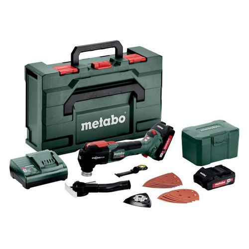 Многофункциональный инструмент METABO MT 18 LTX BL QSL, 2 аккумулятора в комплекте, зеленый/черный [613088500]