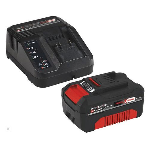 Батарея аккумуляторная Einhell 18V Starter-Kit Power-X-Change 18В 4Ач Li-Ion (З/У в компл.) (4512042 набор зарядное устройство акб einhell 18в 3 0ач li ion power x change