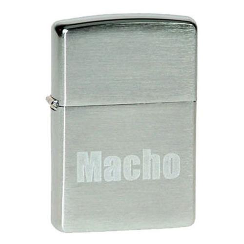 Зажигалка Zippo Macho 200 Macho латунь/сталь серебристый