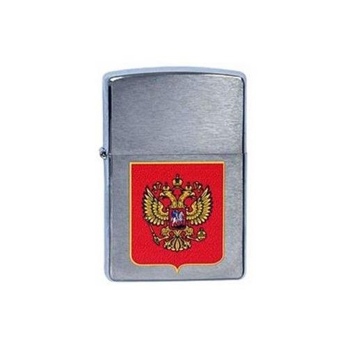 Зажигалка Zippo Герб России 200 Герб России латунь/сталь серебристый