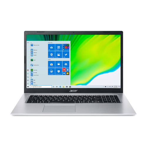 "Ноутбук ACER Aspire 5 A517-52-57RD, 17.3"", IPS, Intel Core i5 1135G7 2.4ГГц, 8ГБ, 512ГБ SSD, Intel Iris Xe graphics , Windows 10 Professional, NX.A5BER.002, серебристый"
