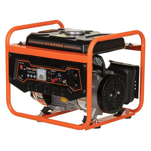 Бензиновый генератор CARVER PPG- 1200, 230/12, 1.05кВт [01.020.00002]