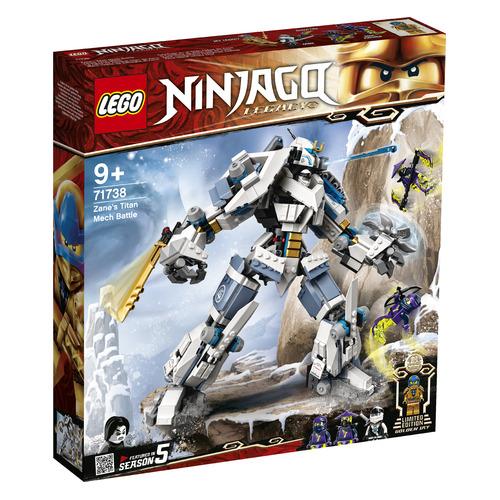 Фото - Конструктор LEGO Ninjago Битва с роботом Зейна, 71738 конструктор lego ninjago бронированный носорог зейна