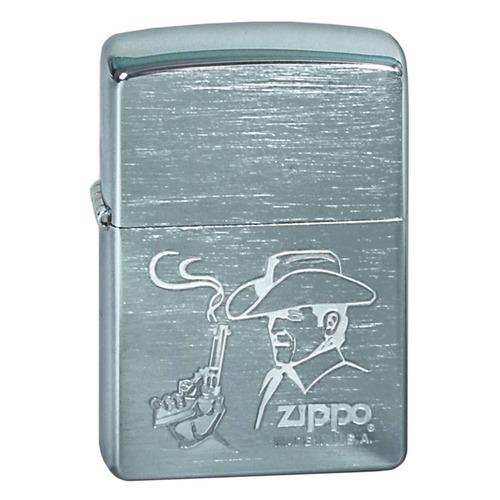 Зажигалка Zippo Cowboy 200 Cowboy латунь/сталь серебристый матовый
