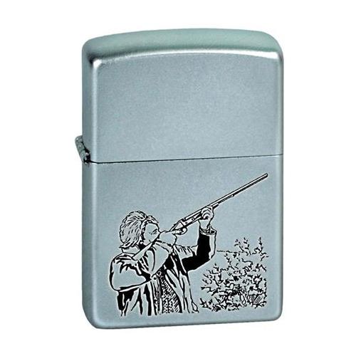 Зажигалка Zippo Hunter 205 Hunter латунь/сталь серебристый матовый