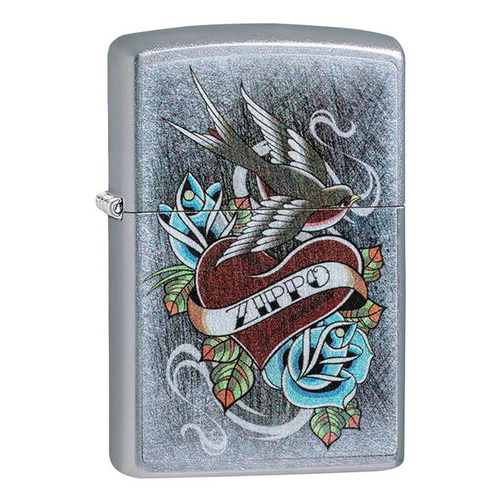 Зажигалка Zippo Vintage Tattoo 29874 латунь/сталь серебристый