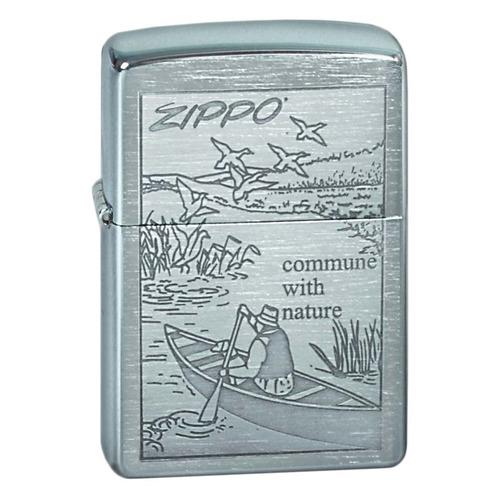 Зажигалка Zippo Row Boat 200 Row Boat латунь/сталь серебристый