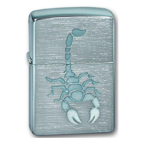 Зажигалка Zippo Scorpion 200 Scorpion латунь/сталь серебристый