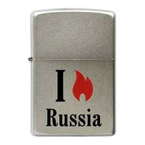 Зажигалка Zippo Flame Russia 205 Flame Russia латунь/сталь серебристый