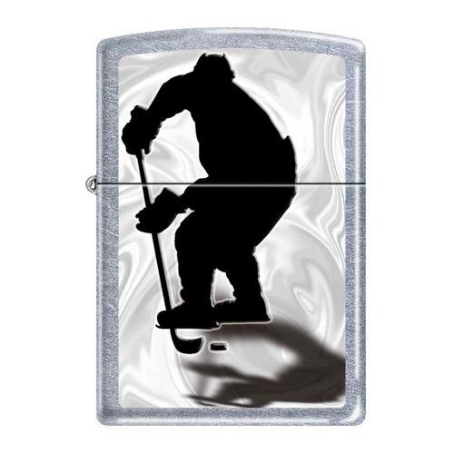 Зажигалка Zippo Хоккеист 207 Hockey латунь/сталь серебристый