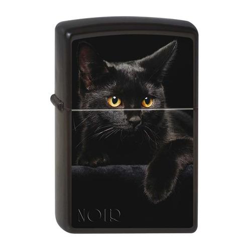 Зажигалка Zippo Чёрная кошка 218 CAT латунь/сталь черный матовый