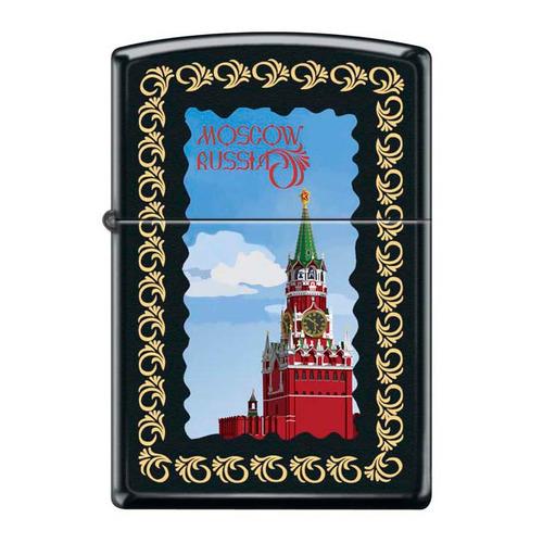 Зажигалка Zippo Московский кремль 218 Moscow Kremlin Framed латунь/сталь черный