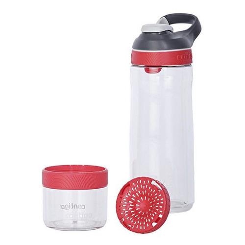Бутылка Contigo Cortland Infuser 0.72л прозрачный/красный пластик (2095014)