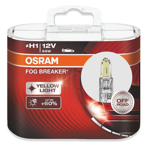 Лампа автомобильная галогенная Osram 62150FBR-HCB, H1, 12В, 55Вт, 2шт