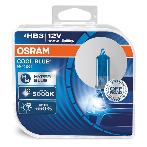 Лампа автомобильная галогенная OSRAM 69005CBB-HCB, HB3, 12В, 65Вт, 5000К, 2шт