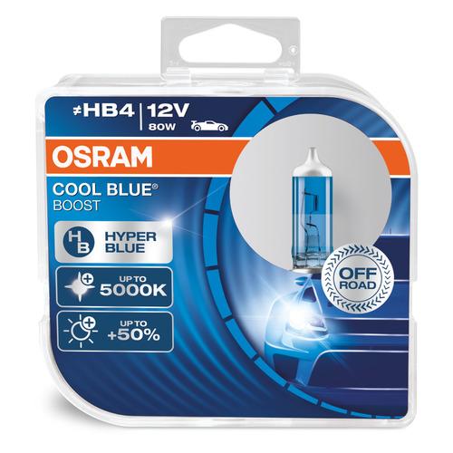 Лампа автомобильная галогенная Osram 69006CBB-HCB, HB4, 12В, 80Вт, 5000К, 2шт