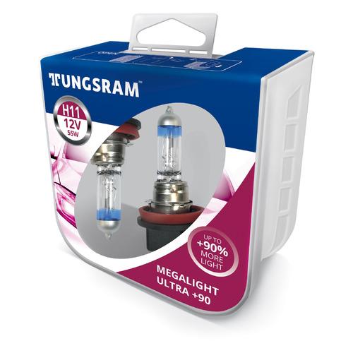 Лампа автомобильная галогенная TUNGSRAM 53110SXU PB2, H11, 12В, 55Вт, 2шт