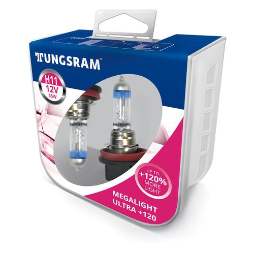 Лампа автомобильная галогенная TUNGSRAM 53110SNU PB2, H11, 12В, 55Вт, 2шт