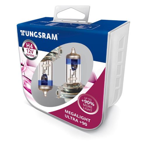 Лампа автомобильная галогенная TUNGSRAM 50440SXU PB2, H4, 12В, 2шт