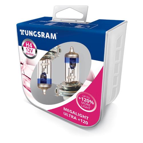 Лампа автомобильная галогенная TUNGSRAM 50440SNU PB2, H4, 12В, 2шт
