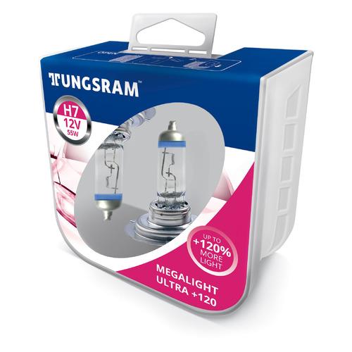 Лампа автомобильная галогенная TUNGSRAM 58520SNU PB2, H7, 12В, 55Вт, 2шт