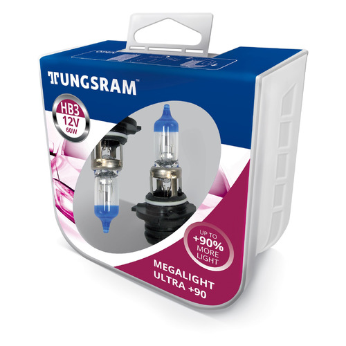 Лампа автомобильная галогенная TUNGSRAM 9005XU PB2, HB3, 12В, 60Вт, 2шт