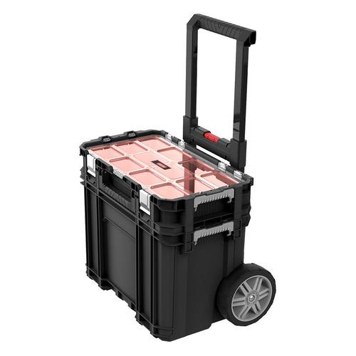 Ящик для инструментов KETER Connect Cart + Organizer, черный [17205661]