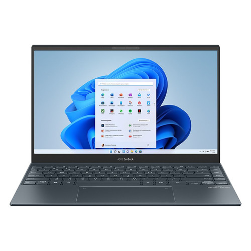 Фото - Ноутбук ASUS Zenbook UX325EA-KG262T, 13.3, Intel Core i5 1135G7 2.4ГГц, 16ГБ, 512ГБ SSD, Intel Iris Xe graphics , Windows 10 Home, 90NB0SL1-M06700, серый ноутбук asus vivobook s15 s533ea bn129t intel core i5 1135g7 2400mhz 15 6 1920x1080 8gb 512gb ssd intel iris xe graphics windows 10 home 90nb0sf3 m03710 черный