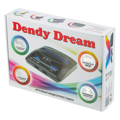 Фото - Игровая консоль DENDY 300 игр, Dream, черный игровая приставка dendy dream 300 игр