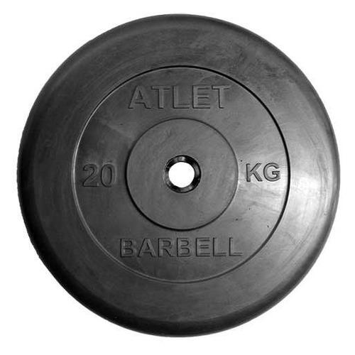 Диск Mb Barbell MB Atlet B31-20 для штанги обрезин. 20кг черный/черный (28266397)