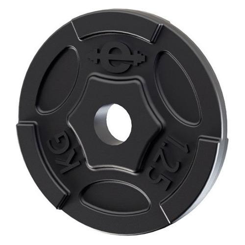 Диск Euro classic ES-0243 для штанги без покр. 1.25кг черный/черный (28262678)