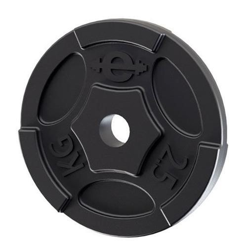 Диск Euro classic ES-0244 для штанги без покр. 2.5кг черный/черный (28262679)