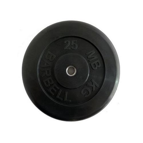 Диск Mb Barbell MB Atlet B26-25 для штанги обрезин. 25кг черный/черный (28261161)