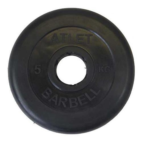 Диск Mb Barbell MB Atlet B50-5 для штанги обрезин. 5кг черный/черный (28264387)
