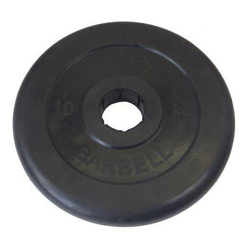 Диск Mb Barbell MB Atlet B50-10 для штанги обрезин. 10кг черный/черный (28264388)