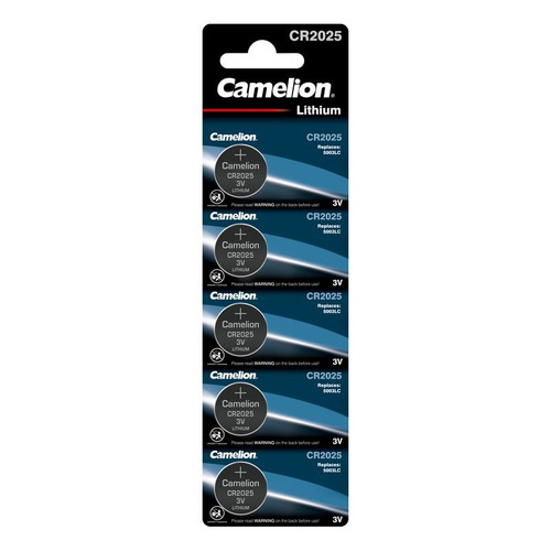 Фото - CR2025 Батарейка CAMELION Lithium CR2025 BL-5, 5 шт. 150мAч батарейка enegizer lithium cr2025 блистер 1 шт
