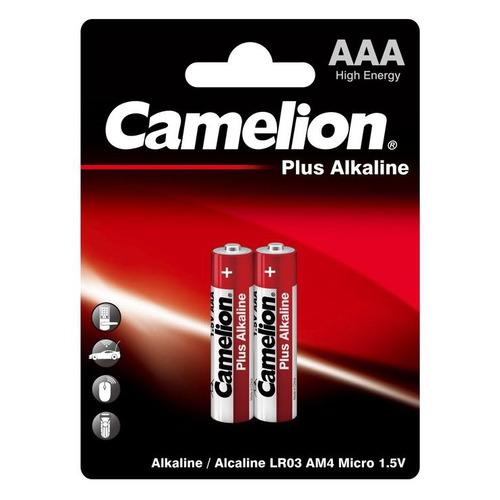 AAA Батарейка CAMELION Plus Alkaline LR03-BP2, 2 шт. 1250мAч недорого