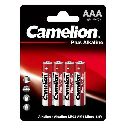 AAA Батарейка CAMELION Plus Alkaline LR03-BP4, 4 шт. 1150мAч недорого