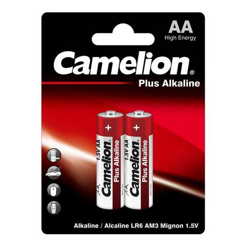 AA Батарейка CAMELION Plus Alkaline LR6-BP2, 2 шт. 2700мAч недорого