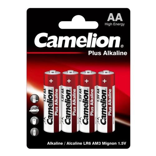 AA Батарейка CAMELION Plus Alkaline LR6-BP4, 4 шт. 2700мAч