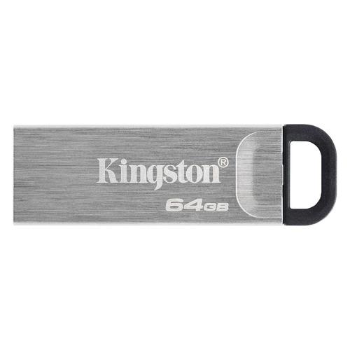 Флешка USB KINGSTON DataTraveler Kyson 64ГБ, USB3.1, серебристый и черный [dtkn/64gb] флешка usb kingston datatraveler g4 64гб usb3 0 белый и фиолетовый [dtig4 64gb]