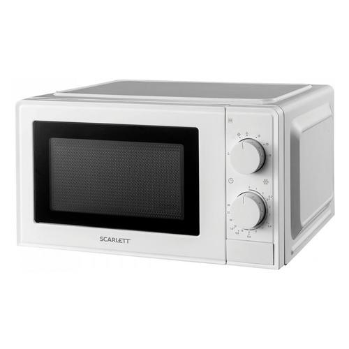 Фото - Микроволновая печь Scarlett SC-MW9020S09M, 700Вт, 20л, белый /черный микроволновая печь свч scarlett sc mw9020s09m